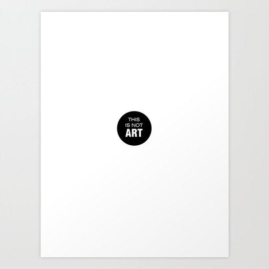 Words of art Art Print