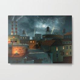 Zone Industrielle Metal Print