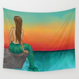 Siren Sunset Wall Tapestry