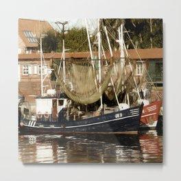 Trawler - Greetsiel Metal Print