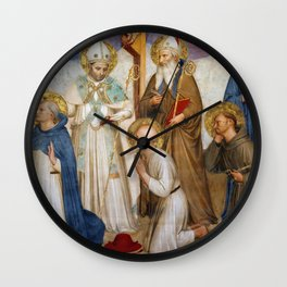 """Fra Angelico (Guido di Pietro) """"Crucifixion with Saints"""" (San Marco) - detail Wall Clock"""