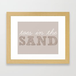 Toes in the Sand Framed Art Print