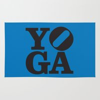 yoga Area & Throw Rugs featuring YoGA by CGould
