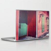 door Laptop & iPad Skins featuring Door by wendygray