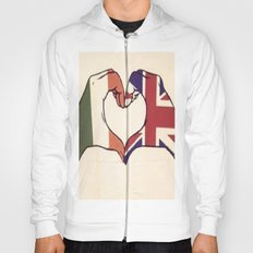 One Direction Inspired UK/Irish Love Heart Hoody