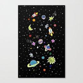 Superhero Space Canvas Print