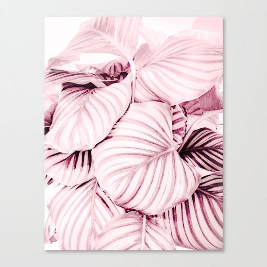 Long embrace - pink Canvas Print