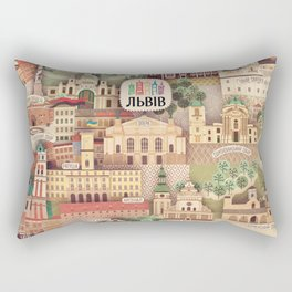 Lviv. Open for the World. Rectangular Pillow