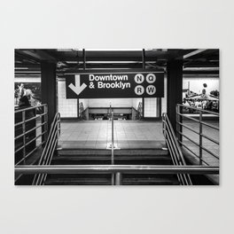 Downtown New York City Subway Canvas Print