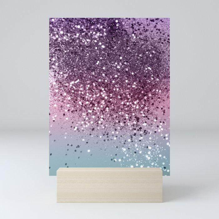 Unicorn Girls Glitter #6 #shiny #pastel #decor #art #society6 Mini Art Print