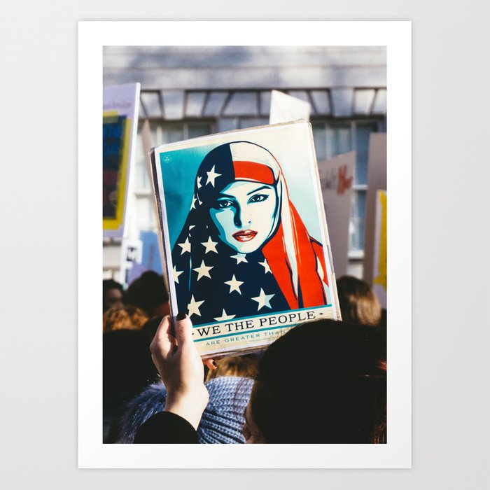 We the People - Women's March London Art Print