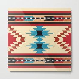 American Native Pattern No. 157 Metal Print