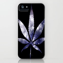 Weed : High Times dark blue Galaxy iPhone Case
