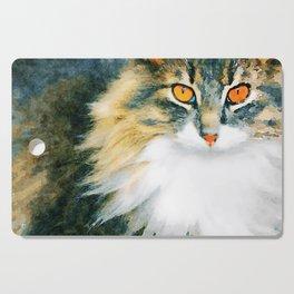 Cat with Orange Eyes Cutting Board