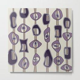 Mod Blobs in Amethyst and Purple Metal Print