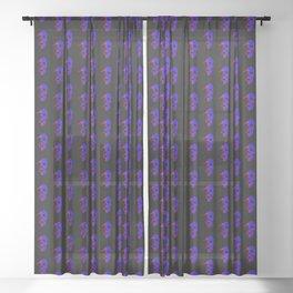 Skull - Blue Sheer Curtain