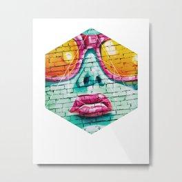 Graffiti Beauty - Geometric Photography Metal Print
