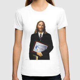 """JESUS      """"The Planet Earth Awards, Beyond Superstition"""" T-shirt"""