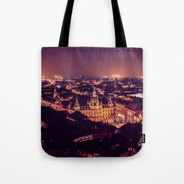 Night view of Graz city Tote Bag