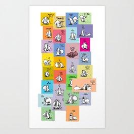 collage of bob Art Print