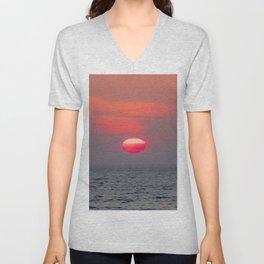 sunset I Unisex V-Neck