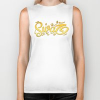 swag Biker Tanks featuring SWAG by Mikhaa