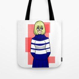 Striped Sweater Dress Tote Bag