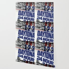 Vintage 1960s Daytona Race Poster Wallpaper