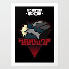 Monster Hunter All Stars - Howling Devils Art Print