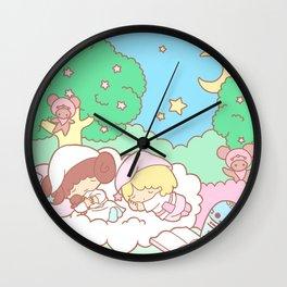Sleepy Ewok Dream Forest Wall Clock