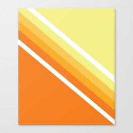 Retro Orange n' Yellow Lines Canvas Print