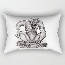 Mix - creature - Troll Devil and Golem Gargoyle Rectangular Pillow
