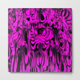 Colorful smudges of magical infinity from pink lines and dark hypnotic fixation. Metal Print