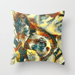 AnimalArt_Sloth_20171202_by_JAMColorsSpecial Throw Pillow