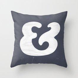 Cooper Black Ampersand Throw Pillow