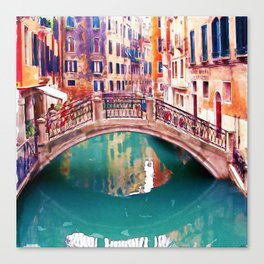 Small Bridge in Venice Canvas Print