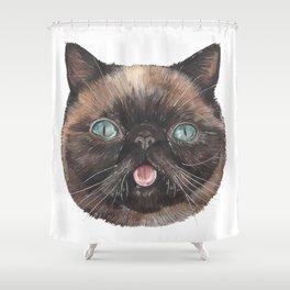 Der the Cat - artist Ellie Hoult Shower Curtain