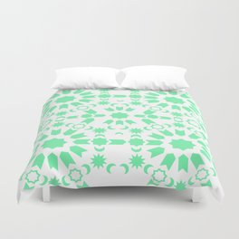 Mint Arabesque Duvet Cover