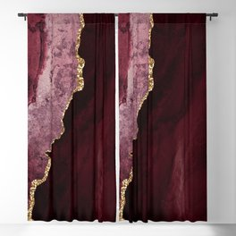 Agate, Burgundy Pink Faux Gold Blackout Curtain