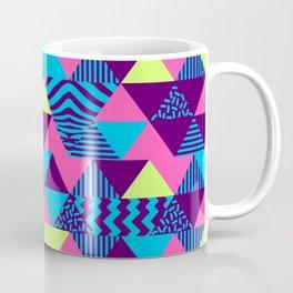 Vintage Retro 1980s 80s Nights New Wave Triangular Print Coffee Mug
