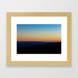 Blue Ridge Parkway Sunset Framed Art Print
