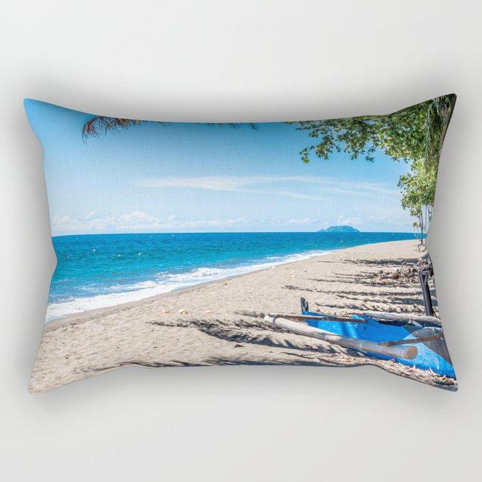 Dauin Beach View Rectangular Pillow
