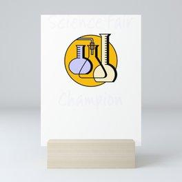 Science Fair Champion Beakers Mini Art Print