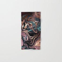 Metallic Rose Gold Marble Swirl Hand & Bath Towel