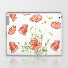 Fragile Beauty - Watercolor Poppies Laptop & iPad Skin