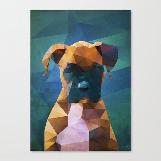 The Boxer - Dog Portrait Canvas Print