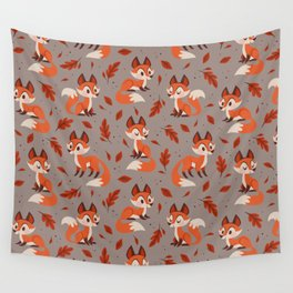 Cute Foxes Wall Tapestry