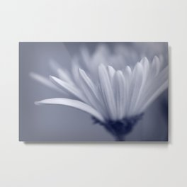 White Flower Macro Metal Print