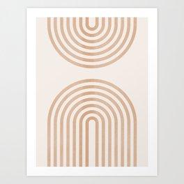 Rainbow lines Art Print