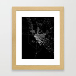 El Paso map Framed Art Print